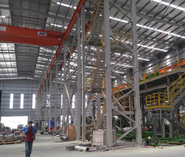 Hệ thống điện chiếu sáng phụ trợ Nhà máy Tôn Đông Á.